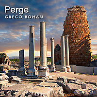 Perge ( Perga ) Archaeological Site Pictures Images & Photos. Turkey
