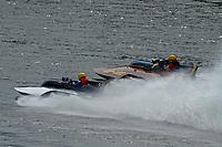 """Scott Kirshner, F-266 """"Miss Supersonic II"""" , 266 class hydroplane, Bob Hampton, GP-182, Xanadu, (1982 Grand Prix class pickle-fork Lauterbach hydroplane)"""