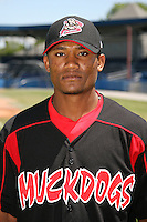 June 16, 2009:  Luis De La Cruz of the Batavia Muckdogs poses for a head shot before the teams practice at Dwyer Stadium in Batavia, NY.  The Batavia Muckdogs are the NY-Penn League Single-A affiliate of the St. Louis Cardinals.  Photo by:  Mike Janes/Four Seam Images