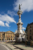 Espagne, Navarre, Pampelune: Monument aux Fueros de Navarre, place paseo de Sarasate,   //  Spain, Navarre, Pamplona: Monument to the Fueros de Navarra, Paseo de Sarasate,