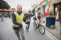 World Champion Peter Sagan (SVK/Bora-Hansgrohe) after crossing the finish line 2nd, losing the race by a few inches only to Michal Kwiatkowski<br /> <br /> 108th Milano - Sanremo 2017