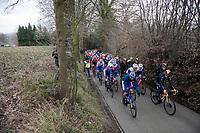 peloton up the Eikenmolen<br /> <br /> 72nd Kuurne-Brussel-Kuurne 2020 (1.Pro)<br /> Kuurne to Kuurne (BEL): 201km<br /> <br /> ©kramon