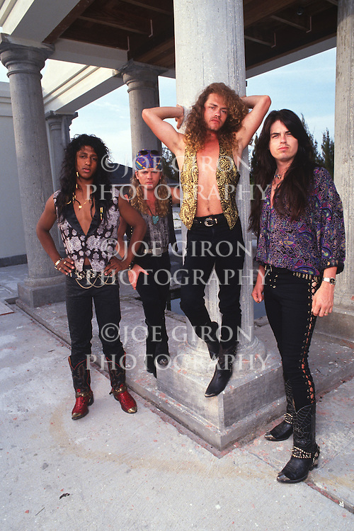 Various portrait sessions & live photographs of the rock band, Crimson Glory