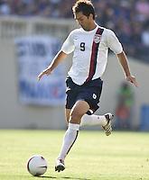 Ante Razov kicks the ball. The USA defeated China, 4-1, in an international friendly at Spartan Stadium, San Jose, CA on June 2, 2007.