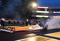 Jun. 1, 2012; Englishtown, NJ, USA: NHRA top fuel dragster driver Clay Millican during qualifying for the Supernationals at Raceway Park. Mandatory Credit: Mark J. Rebilas-