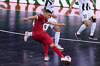 9th October 2020; Palau Blaugrana, Barcelona, Catalonia, Spain; UEFA Futsal Champions League Finals; Mrucia FS versus MFK Tyumen;   Fernan takes a shot on goal