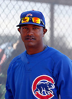 Nelson Perez - Chicago Cubs - 2009 spring training.Photo by:  Bill Mitchell/Four Seam Images