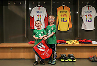 Dublin, Ireland - Saturday June 02, 2018: USMNT locker room vs Republic of Ireland with Irish lads representing an international friendly match between the men's national teams of the United States (USA) and Republic of Ireland (IRE) at Aviva Stadium.