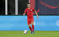 WASHINGTON, D.C. - OCTOBER 11: Paul Arriola #7 of the United States dribbles with the ball during their Nations League game versus Cuba at Audi Field, on October 11, 2019 in Washington D.C.