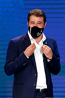 The secretary of Lega right party Matteo Salvini appears as a guest on the tv show Porta a Porta.<br /> Rome (Italy), October 7th 2020<br /> Photo Samantha Zucchi Insidefoto
