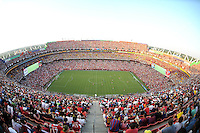 Over look of FedexField Stadium during the game. Manchester United defeated Barcelona FC 2-1 at FedEx Field in Landover, MD Saturday July 30, 2011.