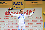 Anthony Roux (FRA) FDJ-BigMat wins the day's combative prize at the end of Stage 2 of the 99th edition of the Tour de France 2012, running 207.5km from Vise to Tournai, Belgium. 2nd July 2012.<br /> (Photo by Eoin Clarke/NEWSFILE)