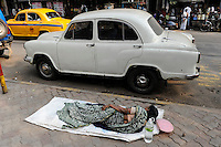 INDIA Westbengal, Kolkata, homeless people / INDIEN, Westbengalen, Kolkata, Obdachlose