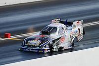 Jun. 16, 2012; Bristol, TN, USA: NHRA funny car driver Robert Hight during qualifying for the Thunder Valley Nationals at Bristol Dragway. Mandatory Credit: Mark J. Rebilas-