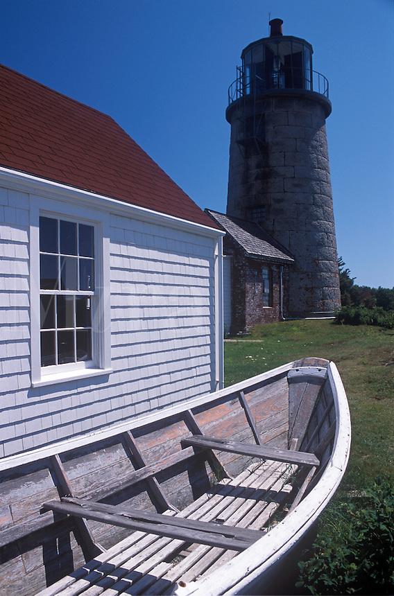 Lighthouse and Museum. Monhegan Island, Maine.