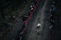 CX world champion Wout Van Aert (BEL/Crelan-Charles) solo-ing in front<br /> <br /> Elite Men's race<br /> UCI CX World Cup Namur / Belgium 2017