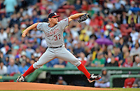 8 June 2012: Washington Nationals pitcher Stephen Strasburg on the mound against the Boston Red Sox at Fenway Park in Boston, MA. Strasburg struck out 13 batters in 6 innings, winning his 7th game of the season as the Nationals defeated the Red Sox 7-4 in the opening game of their 3-game series. Mandatory Credit: Ed Wolfstein Photo
