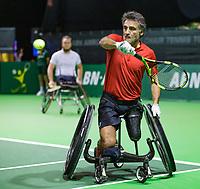 Rotterdam, The Netherlands, 14 Februari 2019, ABNAMRO World Tennis Tournament, Ahoy, Wheelchair final doubles, Stephane Houdet (FRA), <br /> Photo: www.tennisimages.com/Henk Koster