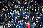 Hearts v St Johnstone…26.01.19…   Tynecastle    SPFL<br />The travelling saints fans<br />Picture by Graeme Hart. <br />Copyright Perthshire Picture Agency<br />Tel: 01738 623350  Mobile: 07990 594431