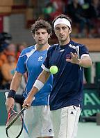 08-05-10, Tennis, Zoetermeer, Daviscup Nederland-Italie, Dubbles  Simone Bolelli and Potito Starace(R)