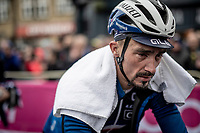an 'old' Julian Alaphilippe (FRA/Deceuninck - QuickStep) after finishing<br /> <br /> Elite Men Road Race from Leeds to Harrogate (shortened to 262km)<br /> 2019 UCI Road World Championships Yorkshire (GBR)<br /> <br /> ©kramon