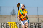 John B. O'Halloran Captain, Kilmoyley during the Kerry County Senior Hurling Championship Final match between Kilmoyley and Causeway at Austin Stack Park in Tralee