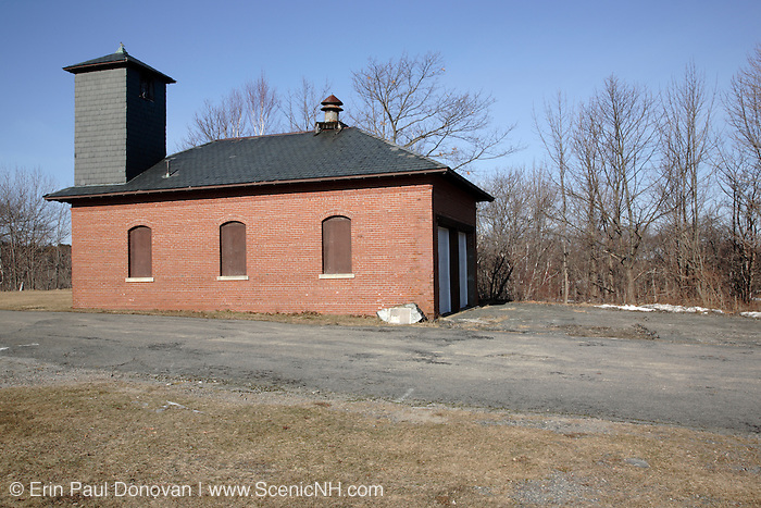 The fire house at  Fort Williams Park during the winter months. Located in Cape Elizabeth, Maine USA,  which is part of the New England seacoast.  .Notes: