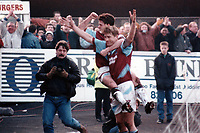 Lee Chapman of West Ham celebrates scoring the winning goal during Kidderminster Harriers vs West Ham United, FA Cup Football at the Aggborough Stadium on 19th February 1994