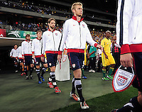 The USA walks onto the field before the  Soccer match between South Africa and USA played at the Greenpoint in Cape Town South Africa on 17 November 2010.