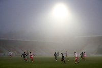 The fog closes in during Stevenage vs Swansea City, Emirates FA Cup Football at the Lamex Stadium on 9th January 2021
