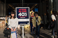 American high street fashion, Gap shop  in Shinjuku, Tokyo, Japan