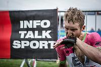 Taylor Phinney (USA/Cannondale Drapac) post race.<br /> <br /> 116th Paris-Roubaix (1.UWT)<br /> 1 Day Race. Compiègne - Roubaix (257km)