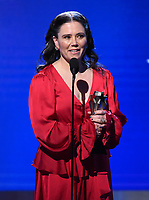 SANTA MONICA, CA - JANUARY 12: Alex Borstein accepts the Best Supporting Actress in a Comedy Series award for 'The Marvelous Mrs. Maisel' onstage at the 25th Annual Critics' Choice Awards at the Barker Hangar on January 12, 2020 in Santa Monica, California. (Photo by Frank Micelotta/PictureGroup)