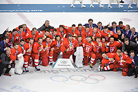 OLYMPICS: PYEONGCHANG: 25-02-2018, Gangneung Icehockey Centre, Icehockey Final Men, Team Olympic Athletes from Russia (OAR) - Team Germany, Final result 4-3, ©photo Martin de Jong