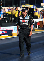 Jul. 26, 2013; Sonoma, CA, USA: Richard Hogan co-crew chief for NHRA top fuel dragster driver Brittany Force during qualifying for the Sonoma Nationals at Sonoma Raceway. Mandatory Credit: Mark J. Rebilas-