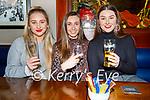 Vilte Kaletkaite, Kinga Maliszewska and Jordan Foley enjoying the evening in Benners Hotel on Friday.