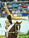 7 October 2010: Christa Kristofics-Binder (AUT) competes during Vaulting in the World Equestrian Games in Lexington, Kentucky