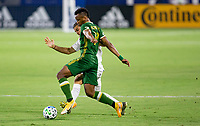 CARSON, CA - OCTOBER 07: Jeremy Ebobisse #17 of the Portland Timbers moves with the ball during a game between Portland Timbers and Los Angeles Galaxy at Dignity Heath Sports Park on October 07, 2020 in Carson, California.