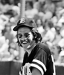 The Eagles 1978 Glenn Frey at Eagles vs Rolling Stone Mag softball game<br /> © Chris Walter