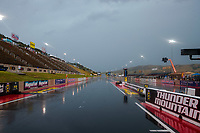 Jul 20, 2019; Morrison, CO, USA; Overall view of Bandimere Speedway during a rain delay to NHRA qualifying for the Mile High Nationals. Mandatory Credit: Mark J. Rebilas-USA TODAY Sports