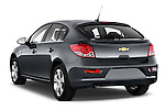 Rear three quarter view of a 2013 Chevrolet CRUZE LTZ 5 Door Hatchback 2WD