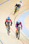 Chiu Vivien (r) of R3-Cycling Team and Lee Sze Wing of SCAA compete during the Women 10km Point Race at the Hong Kong Track Cycling Race 2017 Series 5 on 18 February 2017 at the Hong Kong Velodrome in Hong Kong, China. Photo by Marcio Rodrigo Machado / Power Sport Images