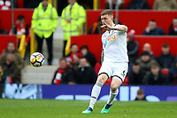 Alfie Mawson of Swansea City during the Premier League match between Manchester United and Swansea City at the Old Trafford, Manchester, England, UK. Saturday 31 March 2018