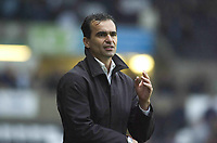 Pictured: Roberto Martínez Manager of Swansea City<br /> Re: Coca Cola Championship, Swansea City Football Club v  Wolverhampton Wanderers at the Liberty Stadium, Swansea, south Wales 2008.