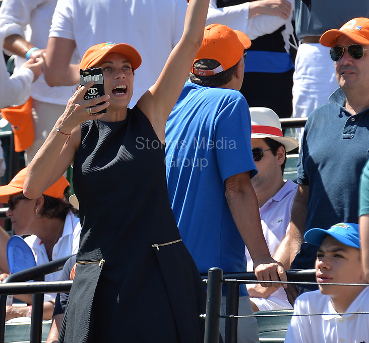 KEY BISCAYNE, FL - APRIL 05: (EXCLUSIVE COVERAGE) Boris Becker's wife Sharlely 'Lilly' Kerssenberg and son Elias Becker during day 14 the Miami Open at Crandon Park Tennis Center on April 5, 2015 in Key Biscayne, Florida<br /> <br /> <br /> People:  Lilly Kerssenberg- Becker, Elias Becker<br /> <br /> Transmission Ref:  FLXX<br /> <br /> Must call if interested<br /> Michael Storms<br /> Storms Media Group Inc.<br /> 305-632-3400 - Cell<br /> 305-513-5783 - Fax<br /> MikeStorm@aol.com