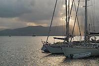 - Portovenere (La Spezia), boats in the tourist port....- Portovenere (La Spezia), barche nel porto turistico
