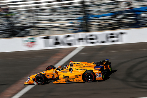 Verizon IndyCar Series<br /> Indianapolis 500 Carb Day<br /> Indianapolis Motor Speedway, Indianapolis, IN USA<br /> Friday 26 May 2017<br /> Fernando Alonso, McLaren-Honda-Andretti Honda<br /> World Copyright: Michael L. Levitt<br /> LAT Images