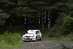 14th September 2012 - Devils Bridge - Mid Wales : WRC Wales Rally GB SS6 Myherin stage : Sebastien Olgier and Julien Ingrassia of France in their Skoda Fabia S2000.