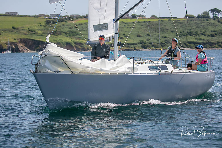 Fiona Young's Albin Express North Star was the winner in IRC in July's Royal Cork League in Cork Harbour Photo: Bob Bateman