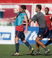 Sebastian Lletget and Paul Grafer training before the 2009 CONCACAF Under-17 Championship From April 21-May 2 in Tijuana, Mexico